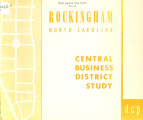 Rockingham, North Carolina, central business district study